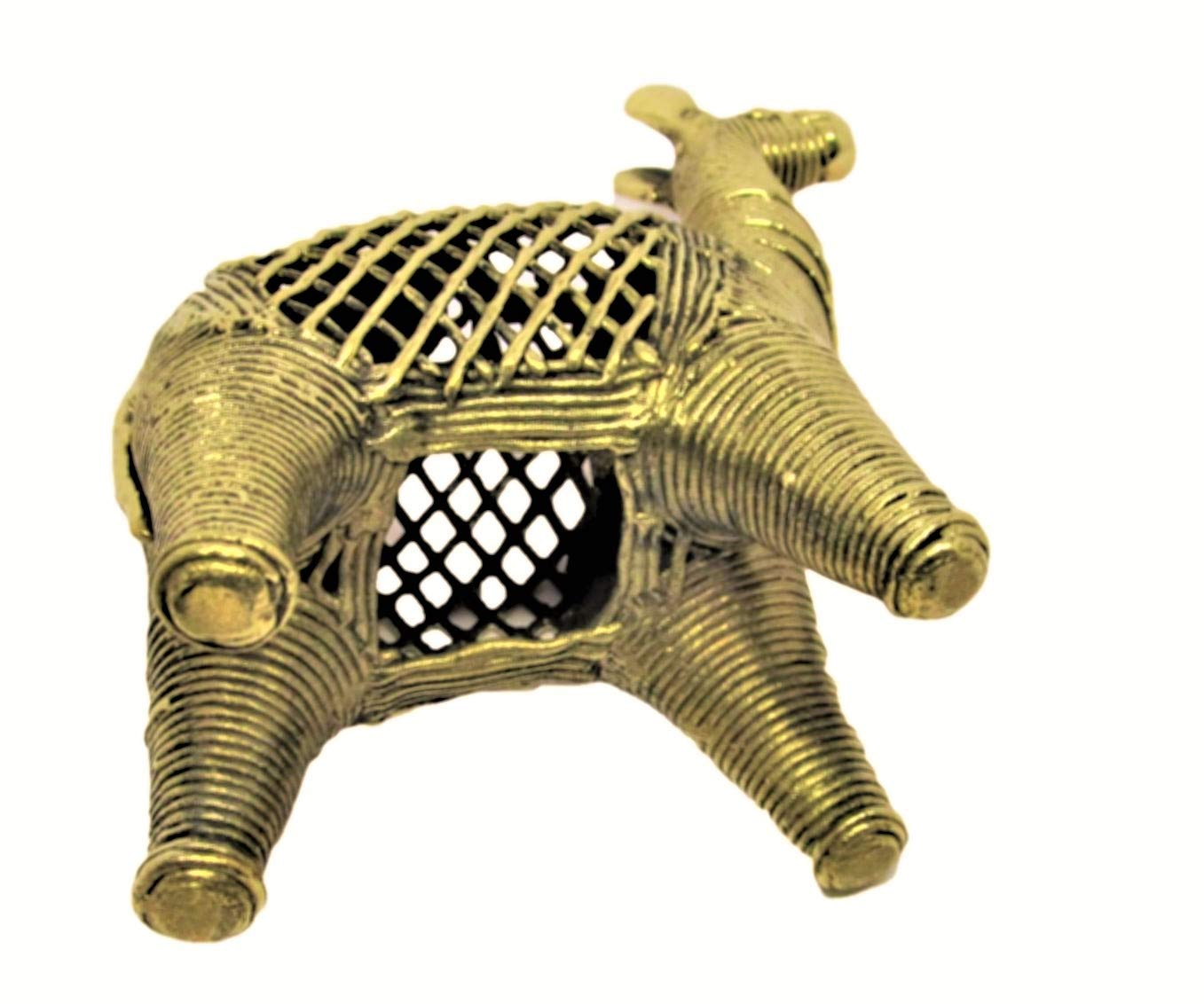 Home Netted Small Decorative Camel Desk Decor OmSai Handcrafted Dhokra Metal Figurine