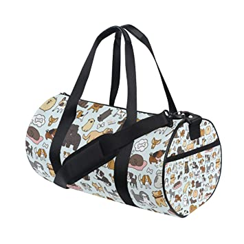 Amazon.com | Gym Duffel Bag Cute Doodle Dog