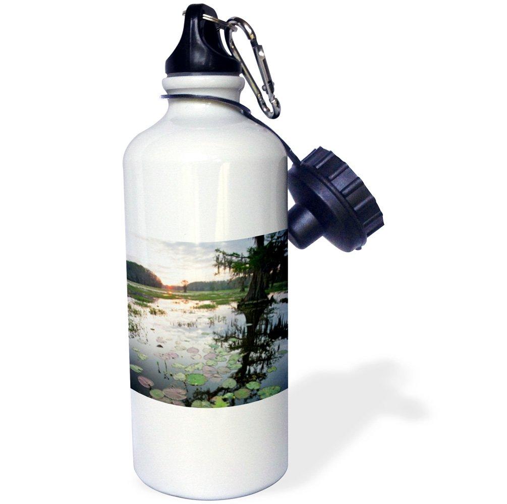 21 oz White USA-US44 LDI0813-Larry Ditto Sports Water Bottle Caddo Lake Texas 3dRose wb/_146938/_1Sunrise