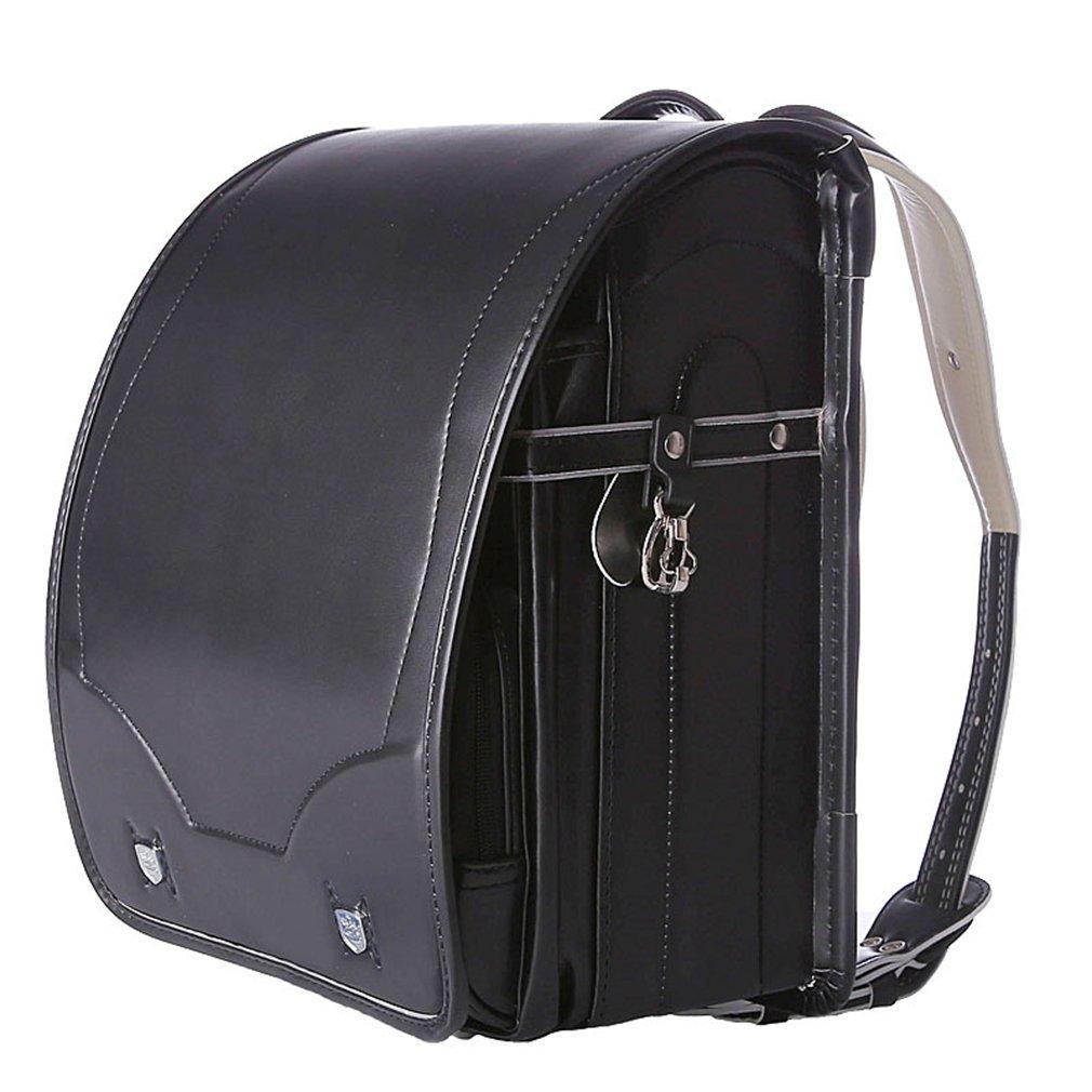 (コ-ランド) Co-land ランドセル 小学生 通学鞄 男の子 女の子 A4フラットファイル対応 軽量 撥水加工 自動ロック 大容量 カバン 入学祝い  ブラック B07C8KHQH5