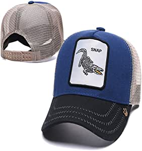 sdssup Gorra de Malla Bordada Visera Serie Animal 18 Ajustable ...