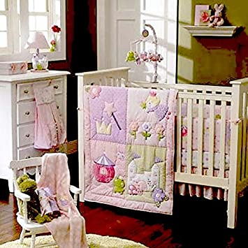 Amazon.com : New Baby Girls Little Fairy Princess 8pcs Crib ...