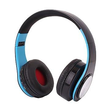 Hanbaili Auriculares estéreo inalámbricos plegables de la auriculares del auricular de Blutooth de la Oreja sobre la oreja Para teléfono móvil de Tablet PC: ...