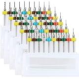 WayinTop 50pcs PCB Drill Bits Set Spiral Flute Carbide 0.3mm-1.2mm for Print Circuit Board Stone Dremel Jewelry CNC…