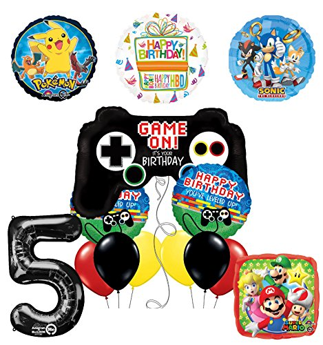 Pokemon Mayflower Products The Ultimate Video Game 5th Birthday Party Supplies and Balloon Decorations ()