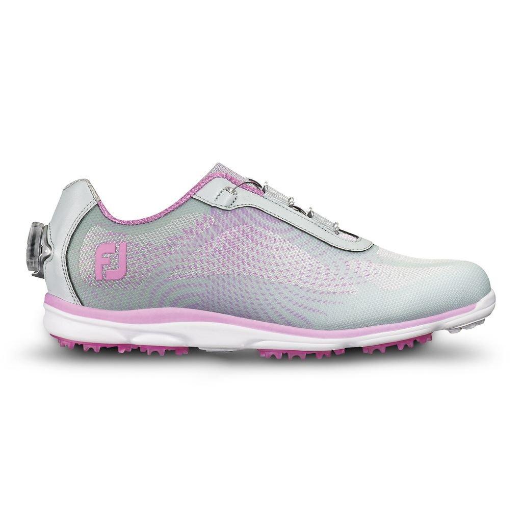 FootJoy Ladies emPower Boa Golf Shoes Silver/Lilac 9 Medium Closeout
