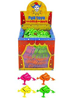 4ff250beb8 Henbrandt NEW 12 JUMPING FLIPPING FROGS PARTY LOOT BAG TOYS ORANGE…