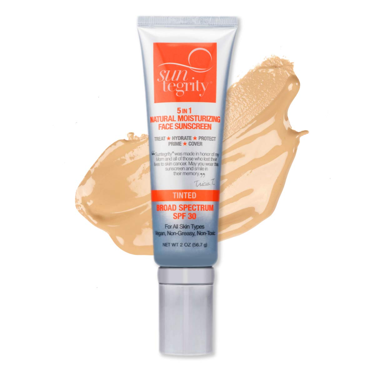 Suntegrity - ''5 in 1'' Natural Moisturizing Face Sunscreen - Tinted - GOLDEN LIGHT