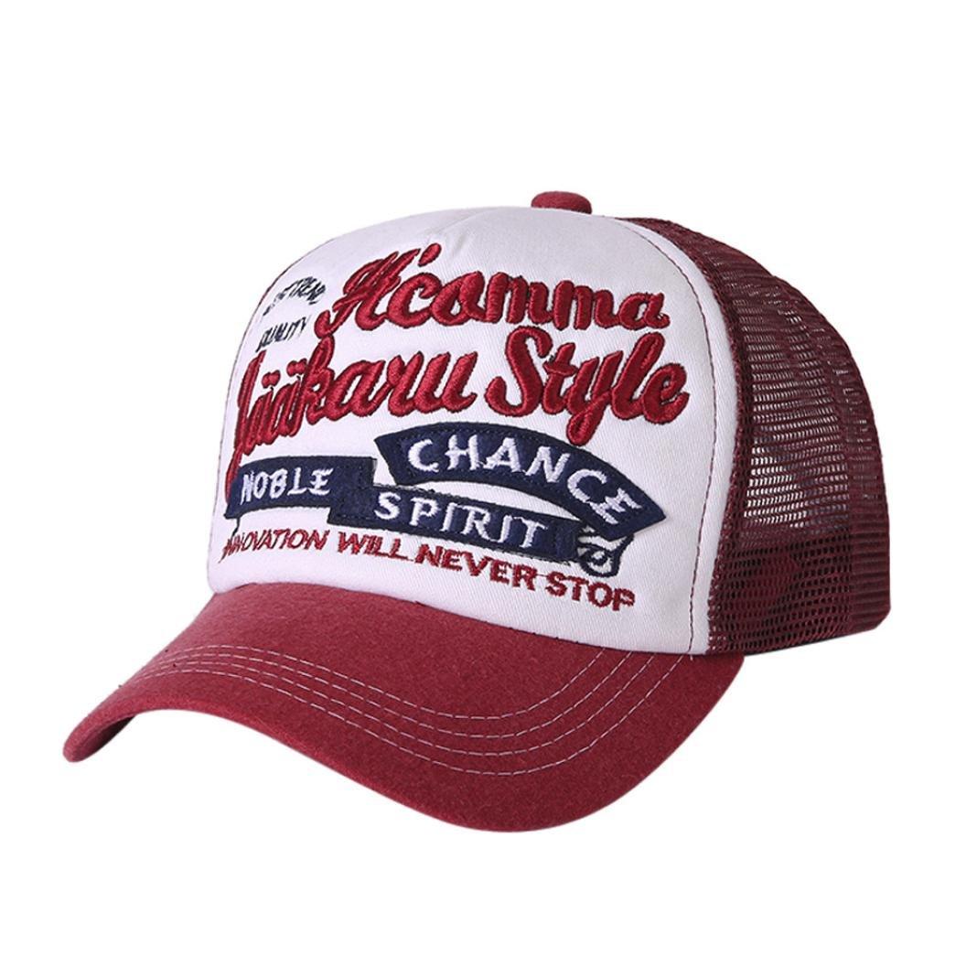 b7aaff0d55b Amazon.com  BCDshop Men Women Sun Protector Baseball Cap Snapback  Adjustable Hat Letter Mesh Cap (Black)  Clothing