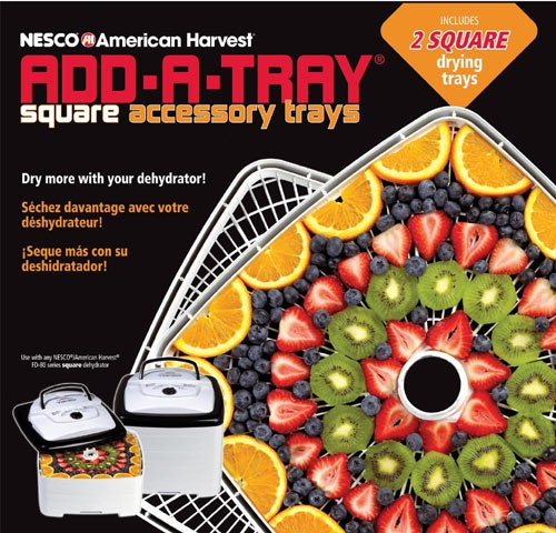 Nesco SQT-2 Add-A-Tray for Square Dehydrators FD-80 and FD-80A, Set of 2