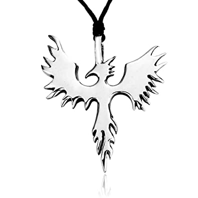 Buy phoenix bird firebird pewter pendant necklace online at low phoenix bird firebird pewter pendant necklace aloadofball Images