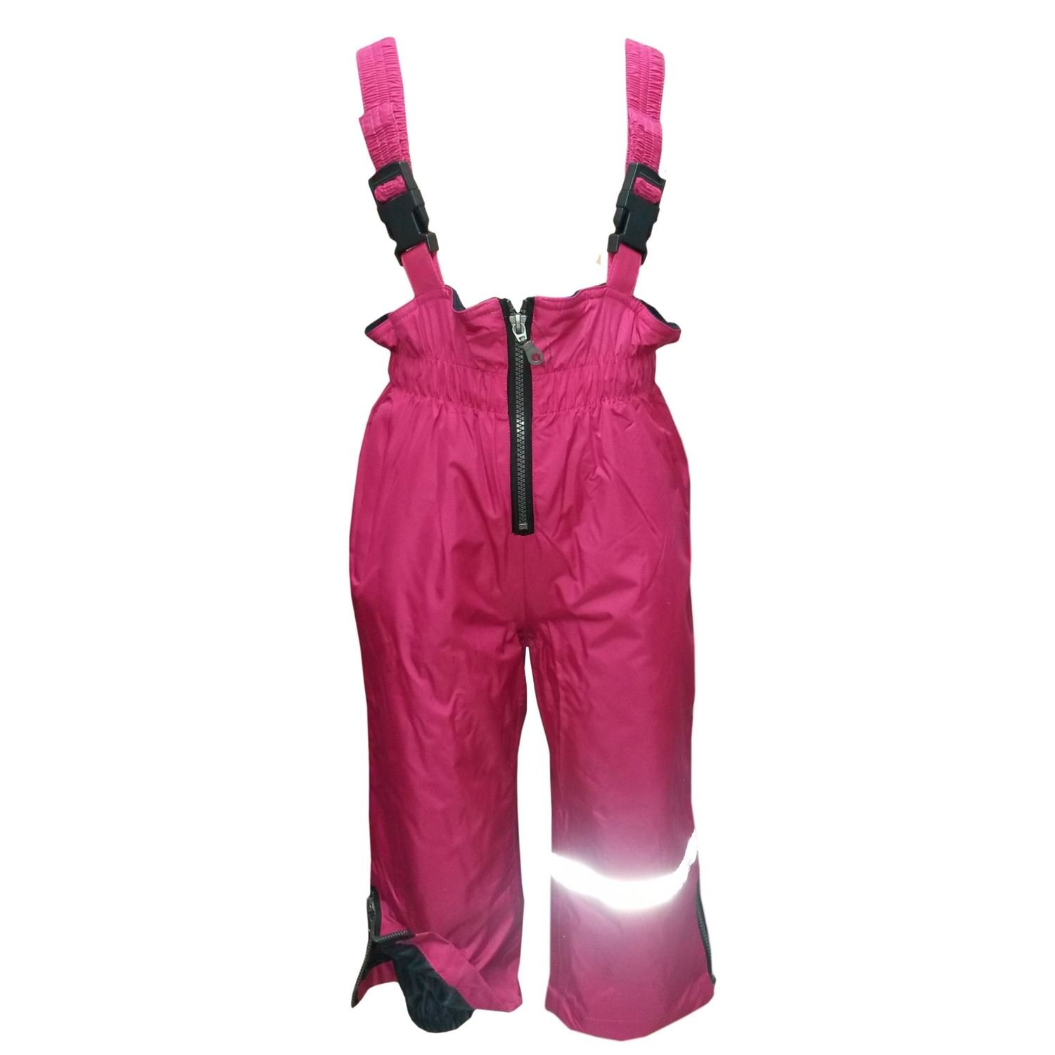 Outburst - Baby girls rain pants outdoor trousers ski pants overalls fleece lining waterproof, pink