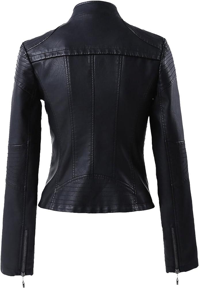 Amazon.com: springrain Mujer Slim soporte collar sólido ropa ...