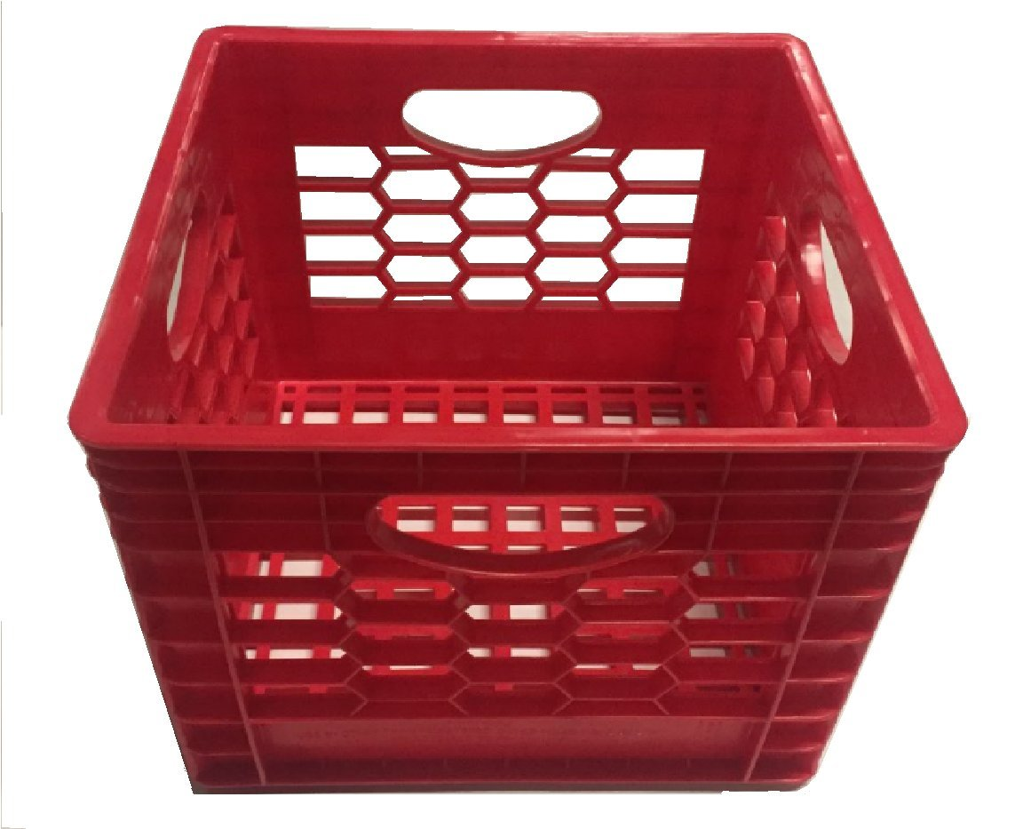 16 Quart Milk Crate (Black)