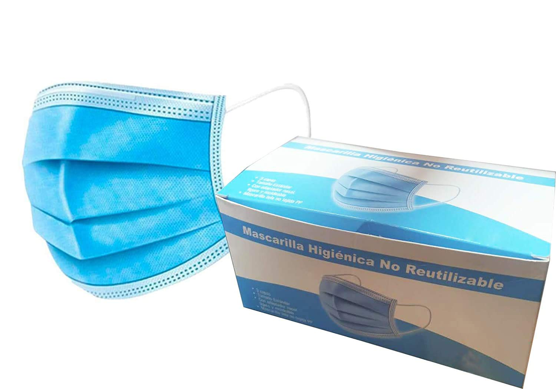 Mascarilla higiénica NO REUTILIZABLE 100 Unidades
