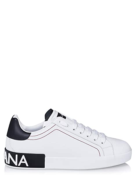 Dolce   Gabbana Sneaker Bassa in Pelle CS1587 AH526 89697 Bianco Nero n.41  EU 583342a3f05