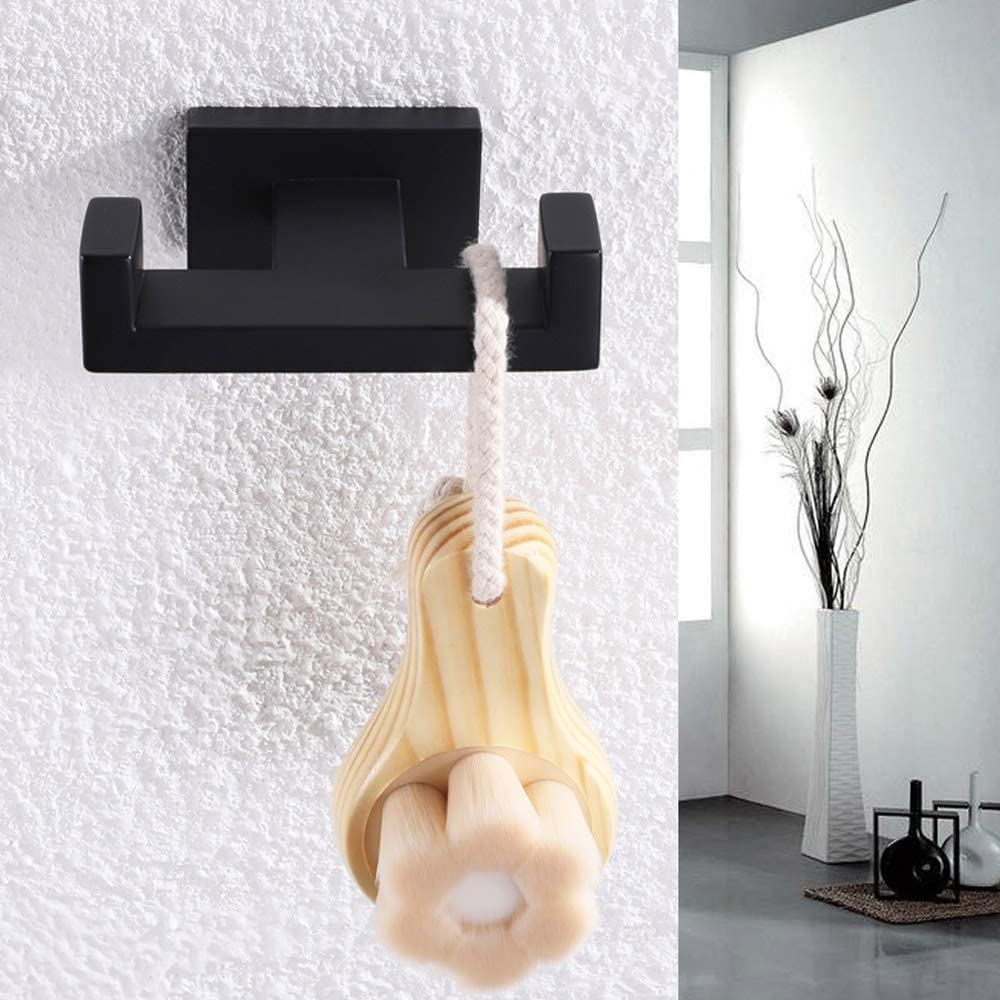 Angle Simple GD3208P Bathroom Lavatory Wall Mount Single Coat and Robe Hook Brushed Nickel