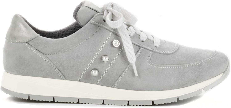 Avena Damen Ziegenleder Sneaker Softness Grau Gr. 42: Avena