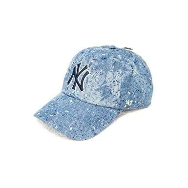 eb5a0001089 Image Unavailable. Image not available for. Color   47 Brand New York  Yankees Splat Clean Up Paint Splatter Denim Slouch Fit Hat