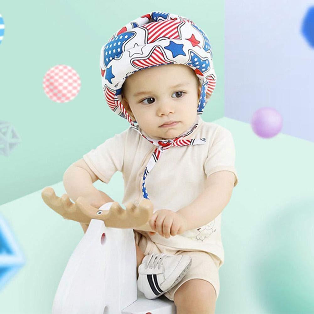 Casco de Seguridad para beb/é sin Golpes arneses de algod/ón Ajustables para ni/ños Protector de Cabeza de beb/é Protector para la Cabeza AOLVO capuch/ón para el Parachoques