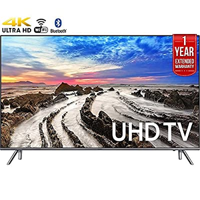 "Samsung UN75MU8000FXZA 74.5"" 4K Ultra HD Smart LED TV (2017 Model) + 1 Year Extended Warranty (Certified Refurbished)"