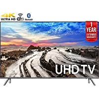 Samsung UN75MU8000FXZA 74.5 4K Ultra HD Smart LED TV (2017 Model) + 1 Year Extended Warranty (Certified Refurbished)