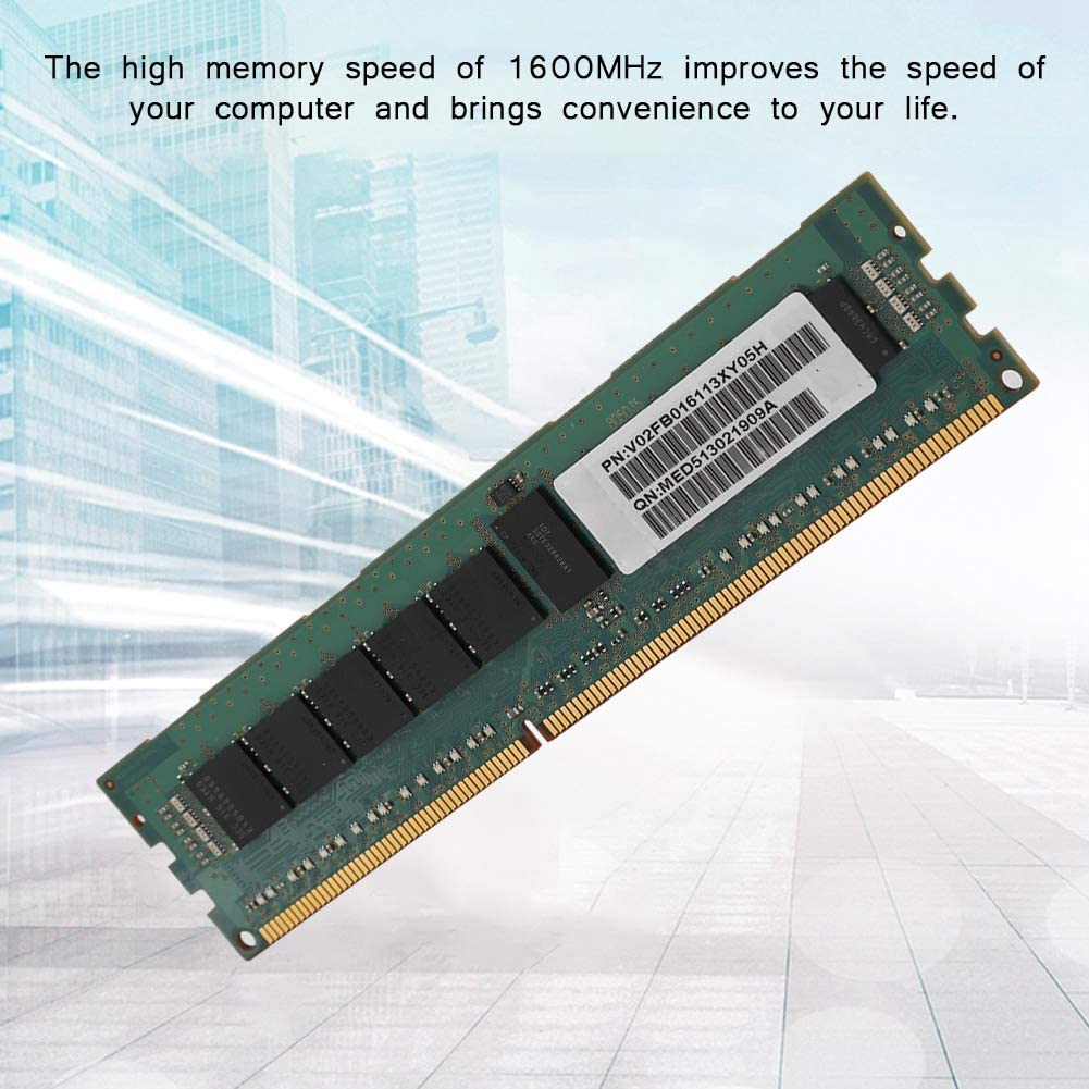 Bewinner 8G Memory Module,8GB PC3-12800R DDR3 1600MHZ 1R4 ECC REG Server Memory Module for X58 X79 Motherboard//for DELL T7500 T3600 HPZ420 Workstation,Support Dual CPU Motherboard T5810
