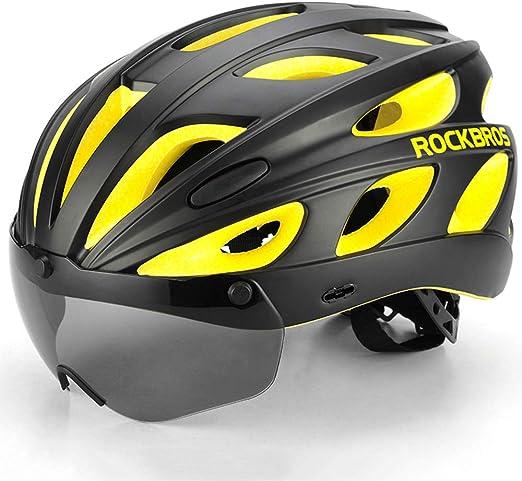 CARACHOME Casco para Bicicleta con Visor de Gafas magnéticas ...
