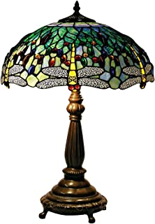 Nice Yellow Dragonfly Tiffany Style Table Lamp