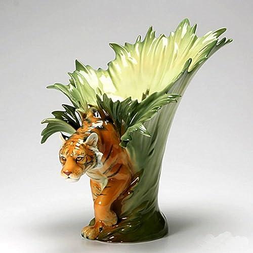 FranzTiger Design Sculptured Porcelain Flower Vase