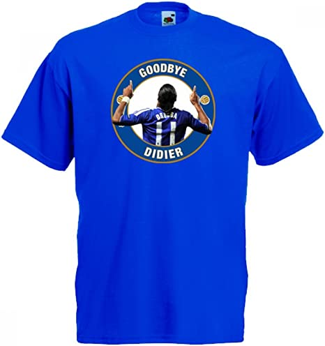 Chelsea Goodbye Drogba T-Shirt (Blue): Amazon.es: Deportes y aire ...