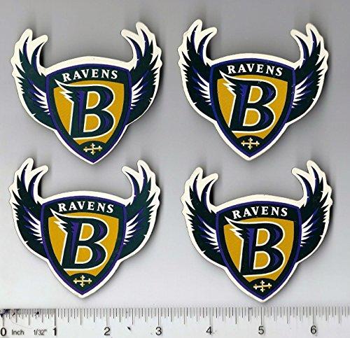Baltimore Ravens 2000 Super Bowl (4 Pack Lot of 4 Vintage 1990s 3