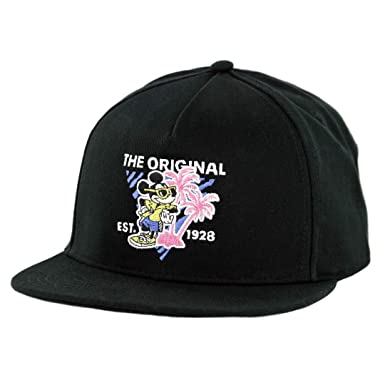 ea0ec9b2bdc Image Unavailable. Image not available for. Color  Vans x Disney Mickey s  90th Snapback Hat (Black) Men s Mickey Mouse Cap