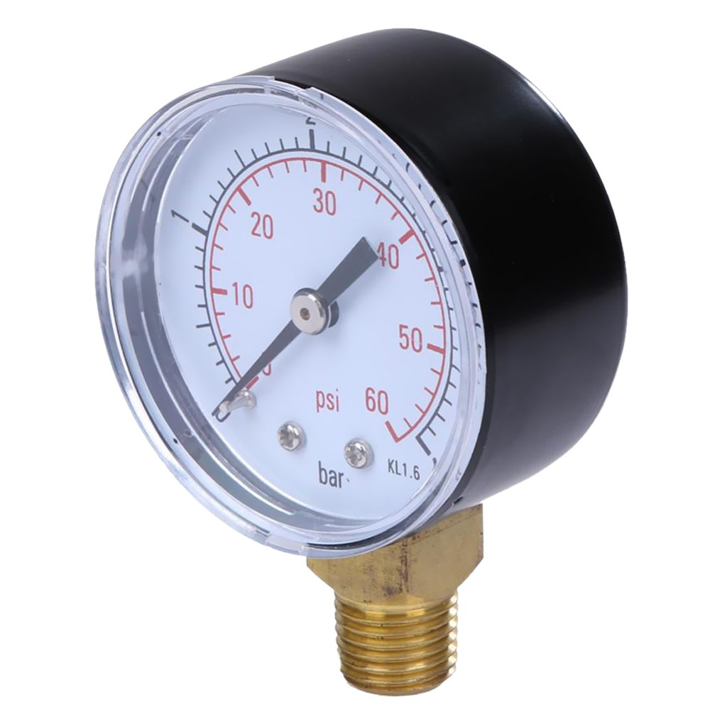 Sharplace 1xPressure Gauge Manometer Hydraulic Gauge 1/4 Inch NPT 0-1 bar Compressor
