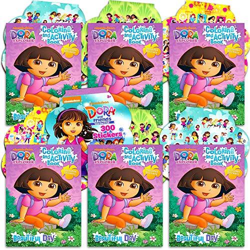 Dora Party Favors (Dora the Explorer Party Favors Pack -- 6 Coloring Books and 8 Sticker Sheets (Dora the Explorer Party)