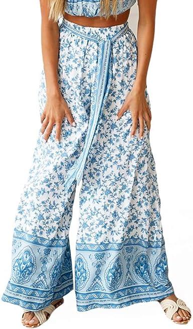 Women Pants!Sale!Ladies Striped Casual Leggings Pants Wide Leg Loose Trousers Teresamoon