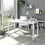 DEVAISE Computer Desk, 55'' Writing Desk Side Table Office Desk, White