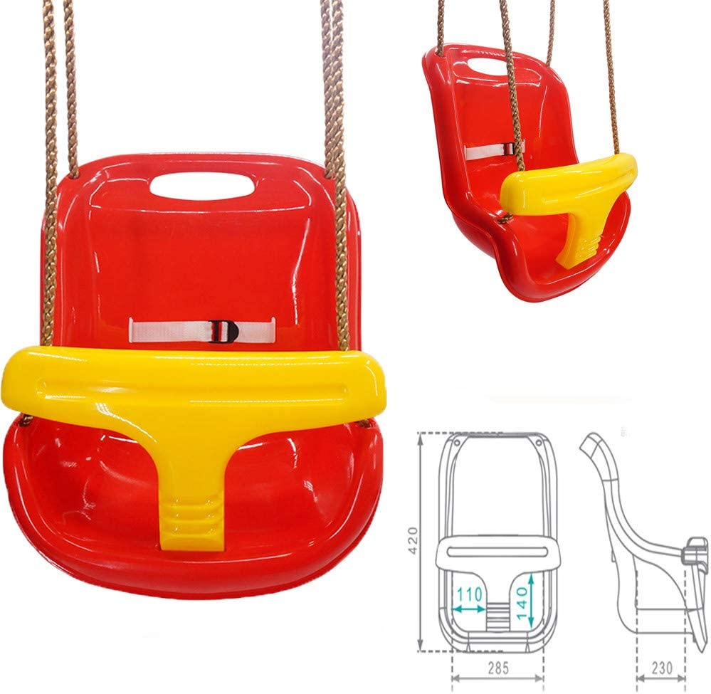 Toddler Bucket Swing Chair,for Baby 6 Months to 3 Years MiklanToddler Swing Set-Sling Baby /& Toddler Children Molded Safety Luxury Fun Swing Throne Seat-Outdoor /& Indoor Swing