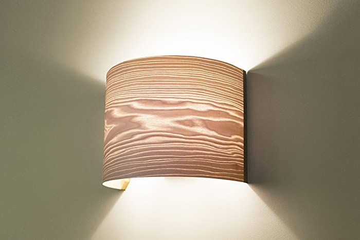 Living Room Wall Lamp, Wall Light Fixture   Wood Veneer Lamp Shade