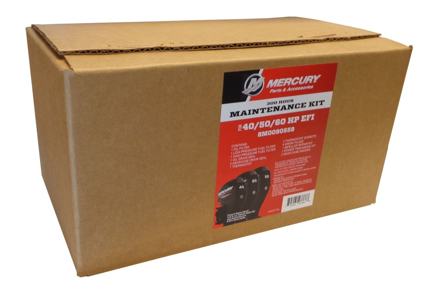 MERCURY OEM 300 Hour Maintenance Kit for 40, 50, 60 HP EFI Outboards  8M0090559