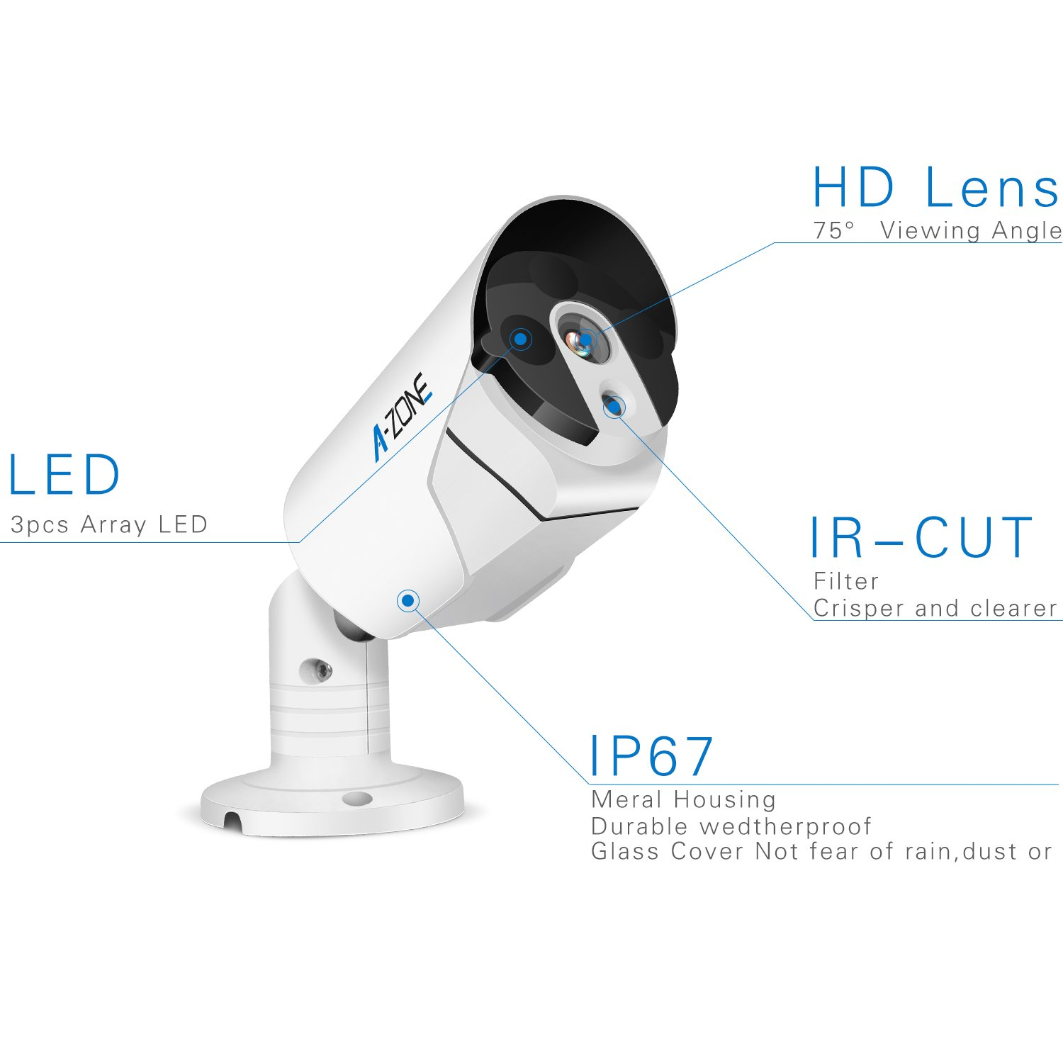 A-ZONE Security 4 Channel 1920P NVR HD 1080P IP PoE Security Camera System with 4 Outdoor//Indoor 3.6mm Fixed Lens 2.0 Megapixel 1080P Cameras Free Remote View 1TB Hard Drive CCTV-Security Camera AZ-W-F5C440-N1 QR Code Easy Setup