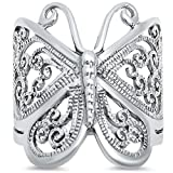 Filigree Butterfly .925 Sterling Silver Ring