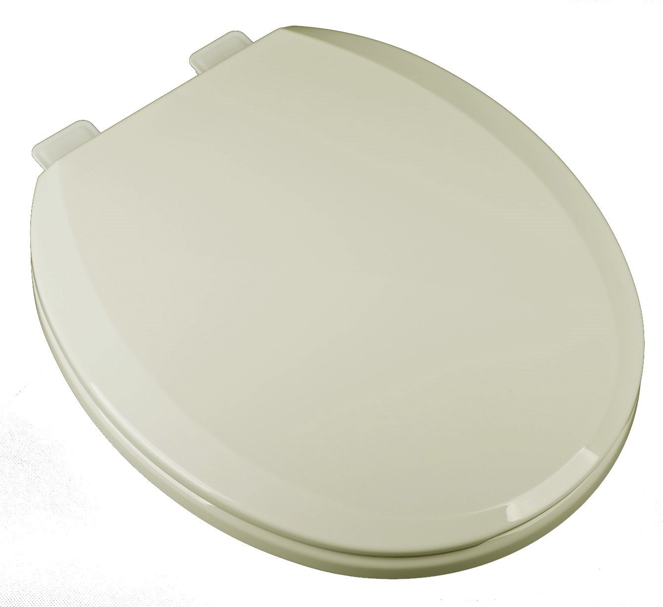Bath Décor 2F1R7-01 Deluxe Slow Close Round Top Mount Toilet Seat with Adjustable Release and Clean Hinge by Bath Décor