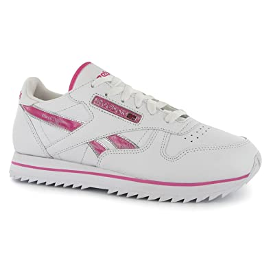 8ecfa0fb2d9a Reebok Womens Classic Etched Ladies Trainers Running Shoes Gym Sports  Footwear Wht HotLipsPink UK 8