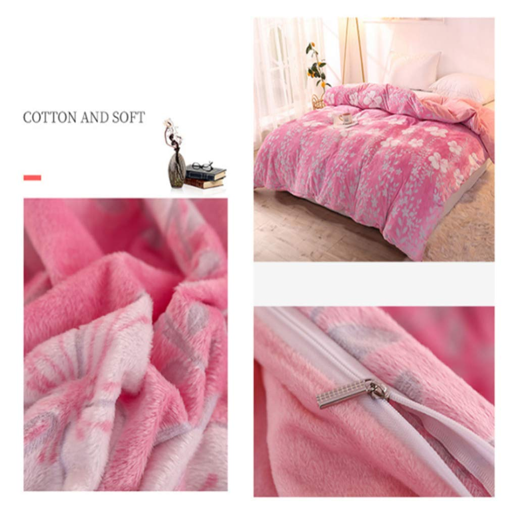 Wařm Quality Crystal Velvet Warm Thickening Duvet Cover Home Bedding Single Double Style-1 160x210cm