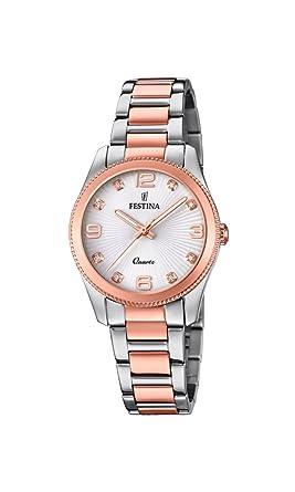 Festina Reloj Análogo clásico para Mujer de Cuarzo con Correa en Acero Inoxidable F20209/2: Amazon.es: Relojes