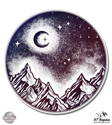 Night Sky in the Mountains Beautiful Celestial Moon - 3