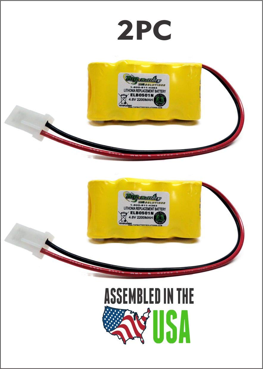 2PC New Replacement Lithonia ELB0501N Battery