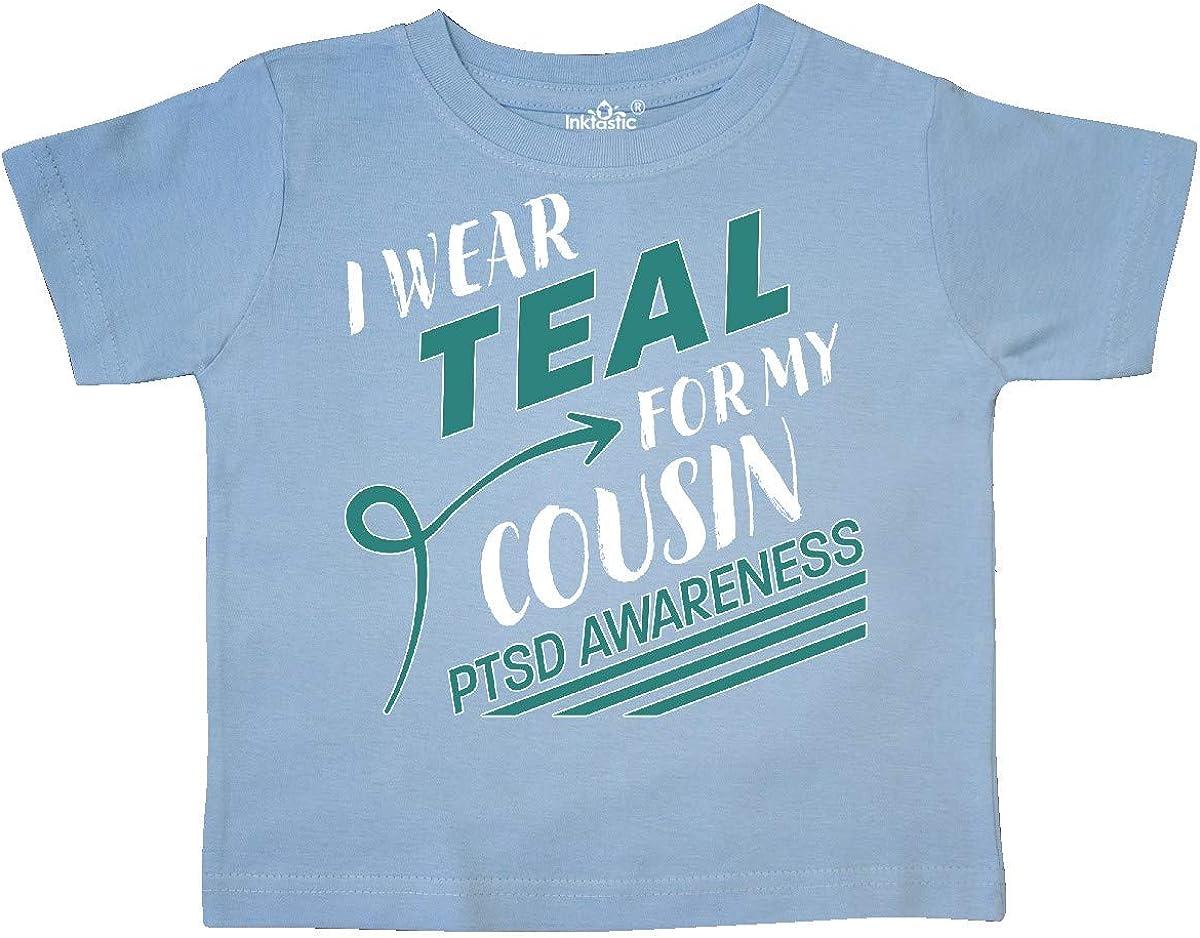 inktastic I Wear Teal for My Cousin PTSD Awareness Toddler T-Shirt
