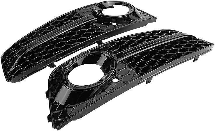 2 St/ück f/ür RS4 Style Glossy Black Nebelscheinwerfer Frontgrill f/ür A4 B8 2009-2012 Nebelscheinwerfer Frontgrill